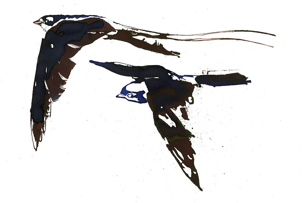 Georg Meyer-Wiel, Drawing, Flight, Image 1