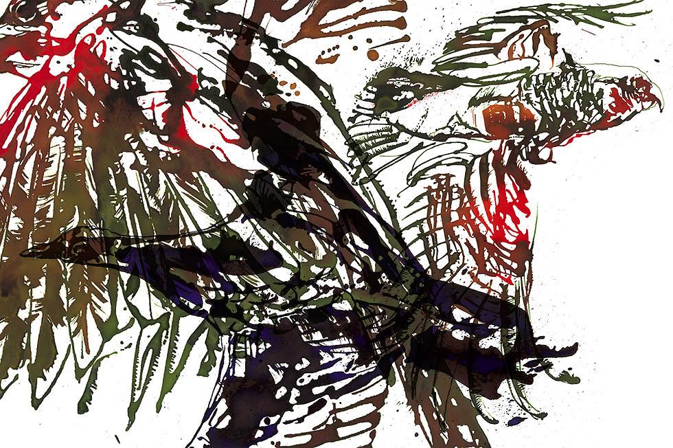 Georg Meyer-Wiel, Drawing, Flight, Image 8