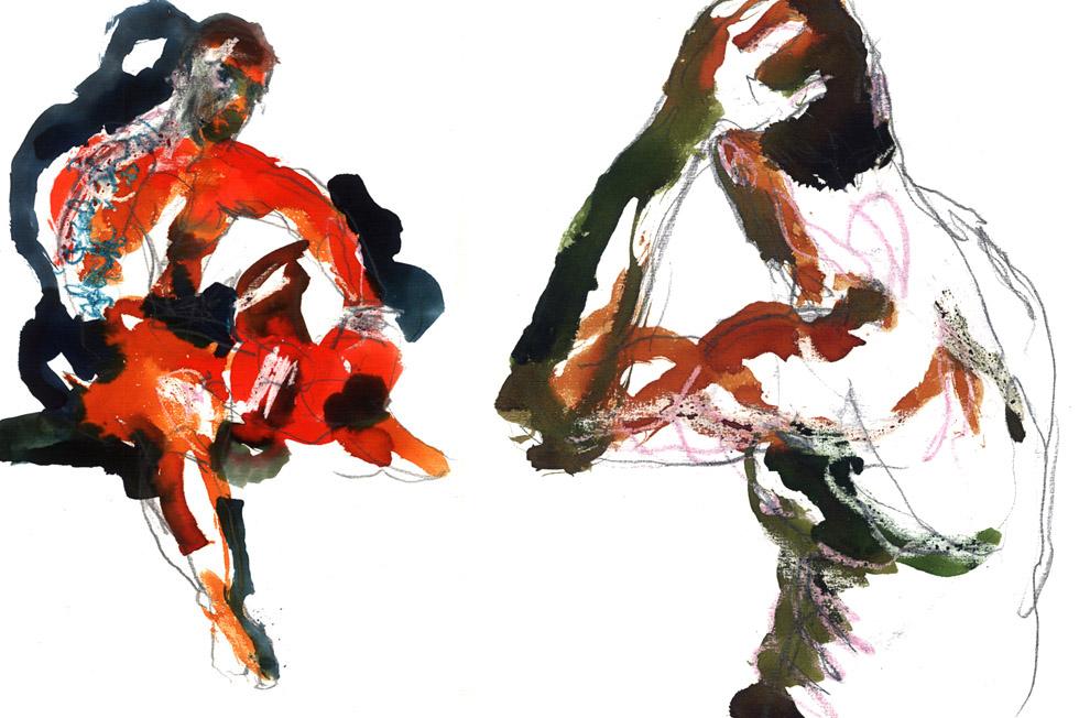 Georg Meyer-Wiel, Drawing, Gloves, Image 1