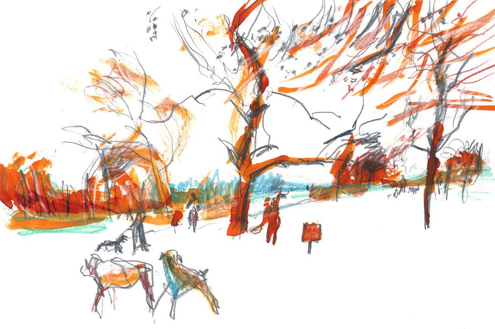Georg Meyer-Wiel, Drawing, Landscape, Image 1